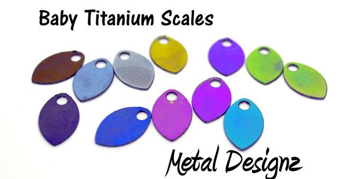 Anodized Titanium Baby Scales - Laser Cut - New Design