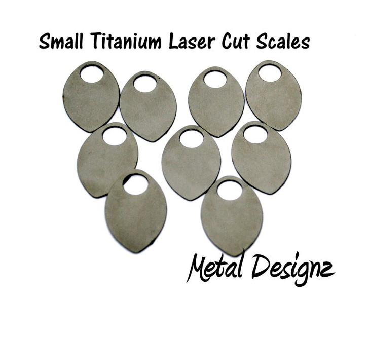 Titanium Small Scales - Laser Cut