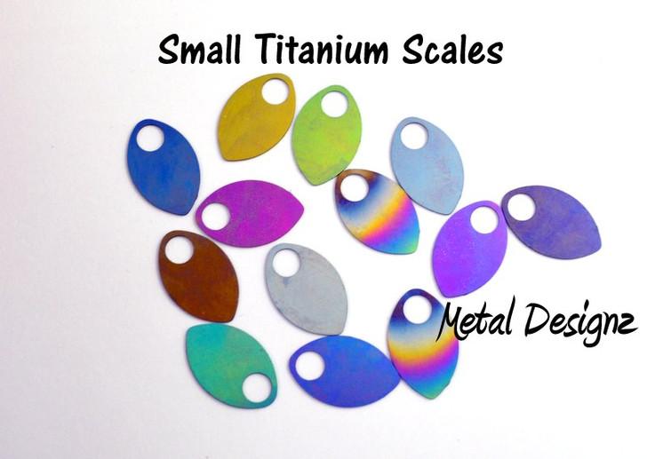 Anodized Titanium Small Scales - Laser Cut