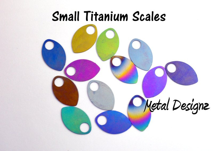 Anodized Titanium Small Scales - Laser Cut