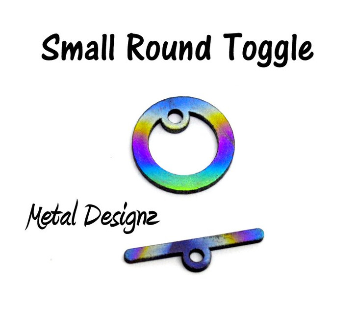 Laser Cut Titanium Toggle pack -5 pack of Small Round Toggles