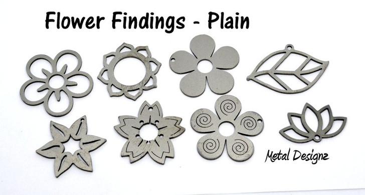 Laser Cut Titanium -Flower Findings  - Sold each - No Colour