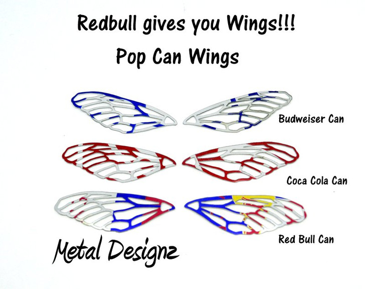 Pop Can Fairy Wings - Limited Edition Fairy Wings!  Sold per pair.