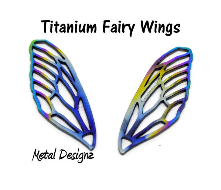 Laser Cut Titanium Fairy Wings - Sold per pair