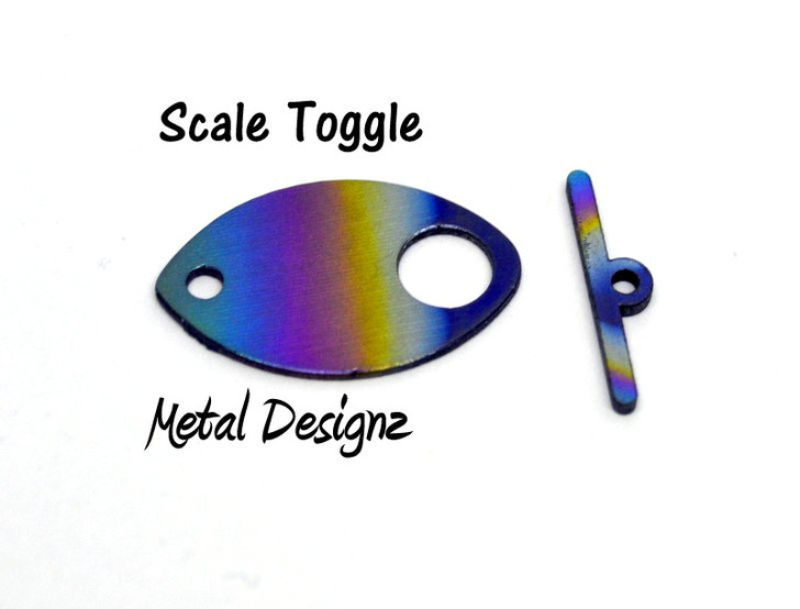 Laser Cut Titanium Small Scale Toggle with small Bar