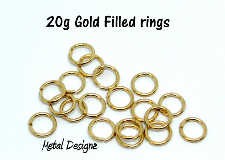 Gold Filled Jump Rings 20 Gauge Jump Rings - Sold by 1/4 Ounce