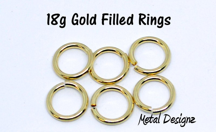 Gold Filled Jump Rings 18 (SWG) Gauge Jump Rings - Sold by 1/4 Ounce