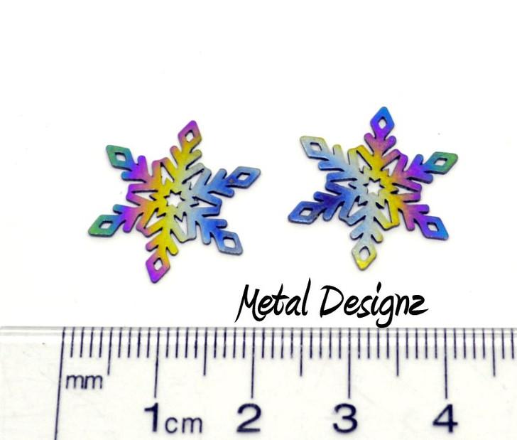 Laser Cut Snowflake Charm - Pair