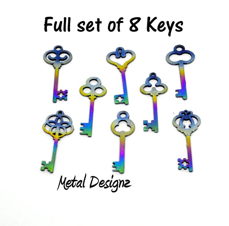 Laser Cut Fancy Skeleton Key Charms