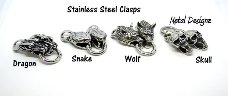 Stainless Steel Head Clasps - Very Limited Quantity.