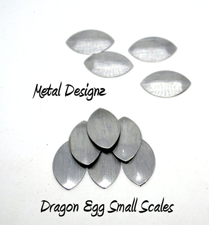 Small Brushed Scales - No Holes - Dragon Egg Scales - Sold in bags of 100