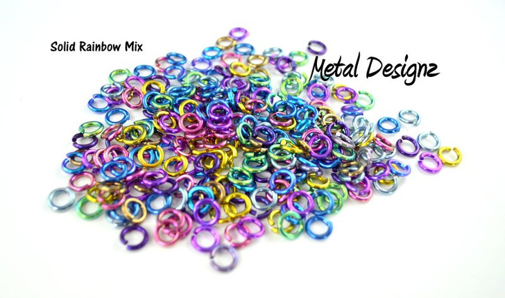 Anodized Titanium Jump Rings 14 Gauge 15/64""