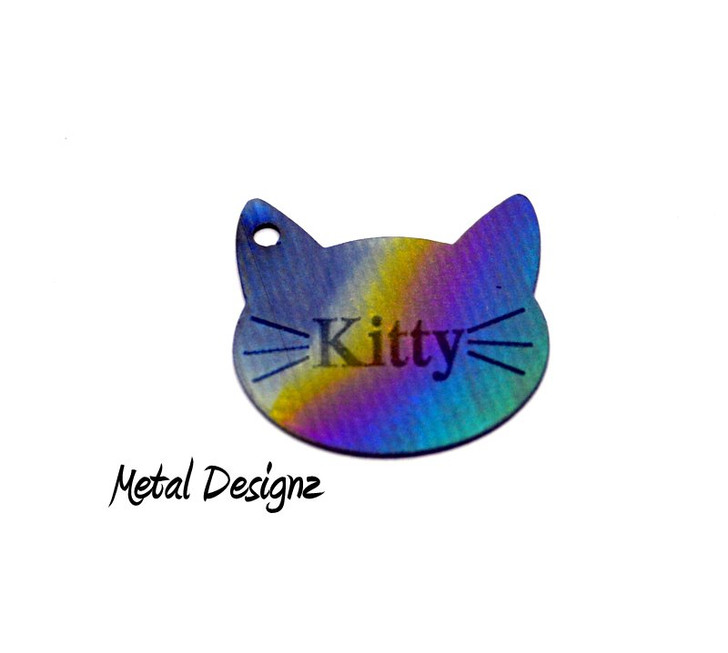 Personalized Cat Head Charms