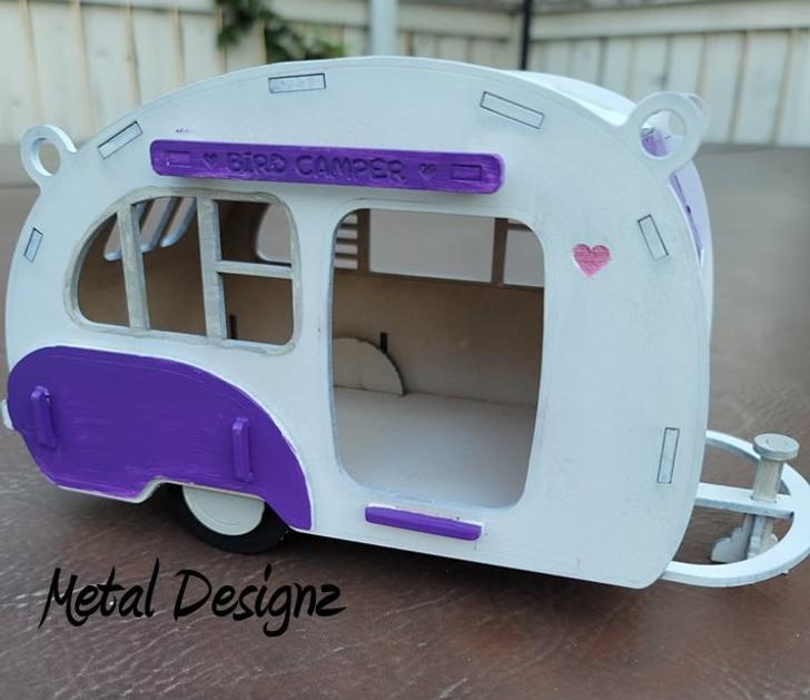 Simple Retro Camper Bird Feeder Kit - Make your own!