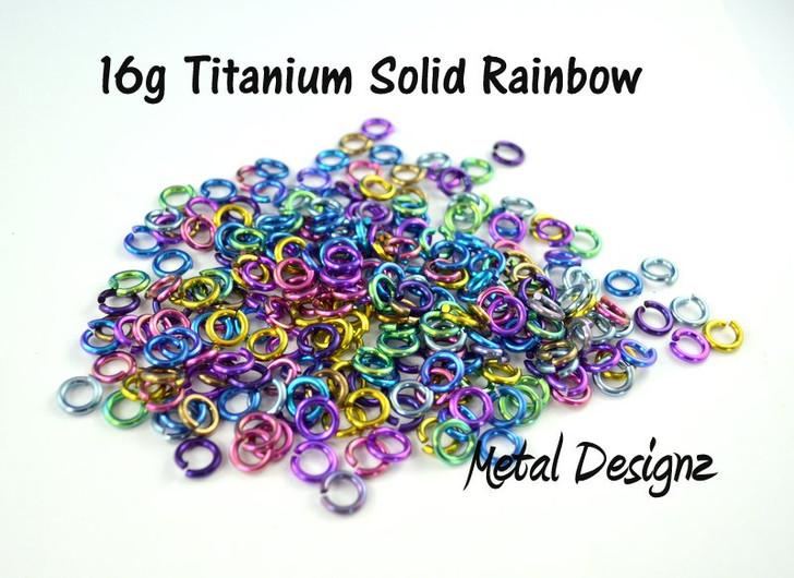 Anodized Titanium Jump Rings 16 Gauge 4.5mm id.