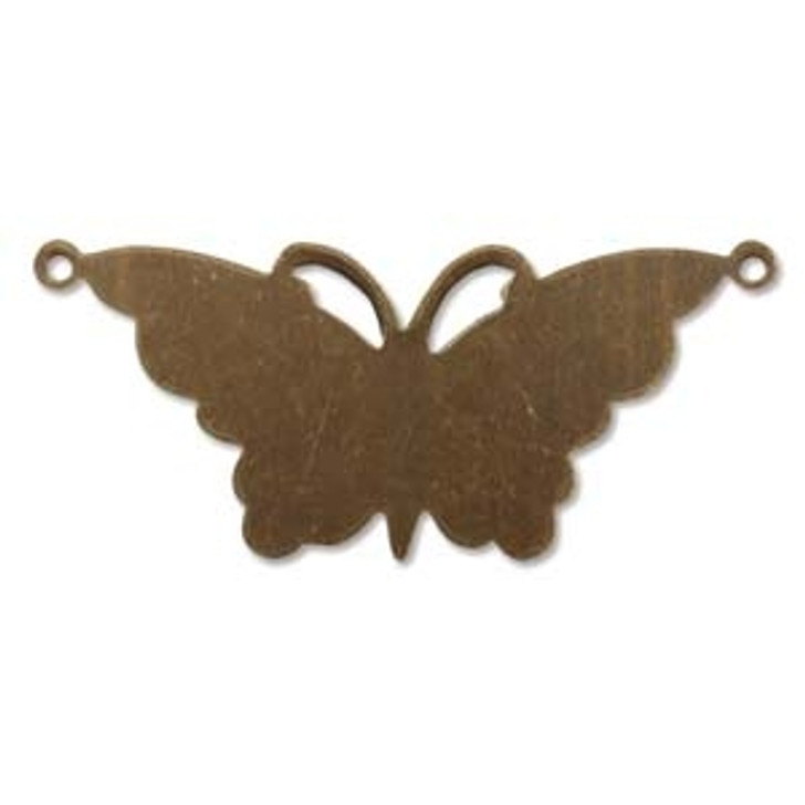 47X21MM SUSPENDED BUTTERFLY VINTAJ NAT. BRASS