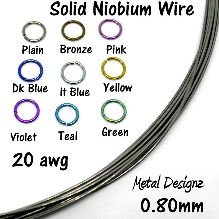 20 Gauge Anodized Niobium Wire for EZ Earring Tool