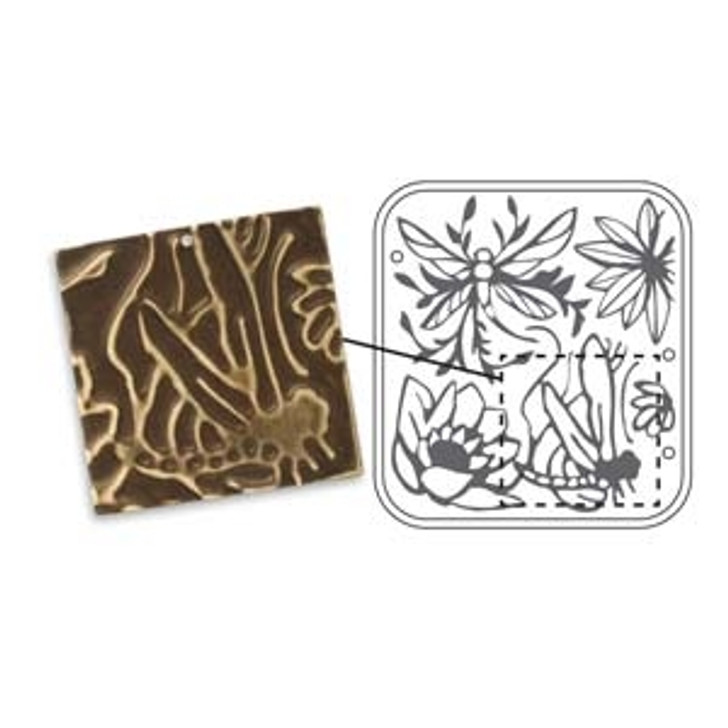 DRAGONFLY POND VINTAJ -METAL FOLDERS FOR SIZZIX OR CUTTLEBUG