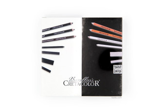 Black & White Wooden Set - 25 pcs, front view