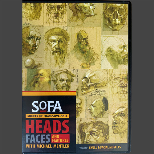 Heads, Faces, and Features (Volume one) DVD-ROM by Michael Mentler DVD Box