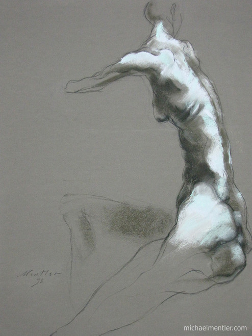 Figura IX by Michael Mentler 25 in by 18 in, Pastel and Conté on Canson Mi-Teintes