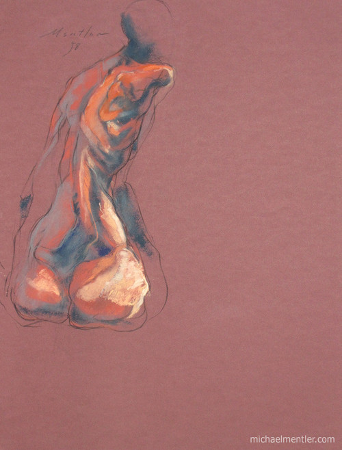 Figura XII by Michael Mentler 25 in by 18 in, Pastel and Conté on Canson Mi-Teintes