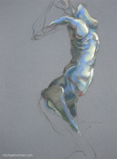 Figura XVII by Michael Mentler 25 in by 18 in, Pastel and Conté on Canson Mi-Teintes