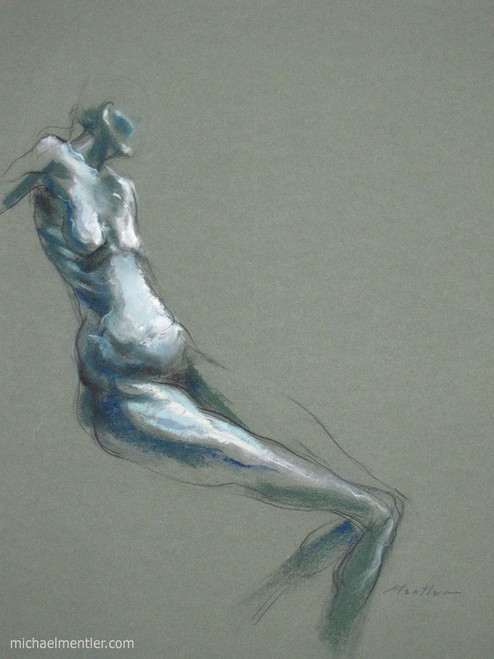 Figura XIX by Michael Mentler 25 in by 18 in, Pastel and Conté on Canson Mi-Teintes