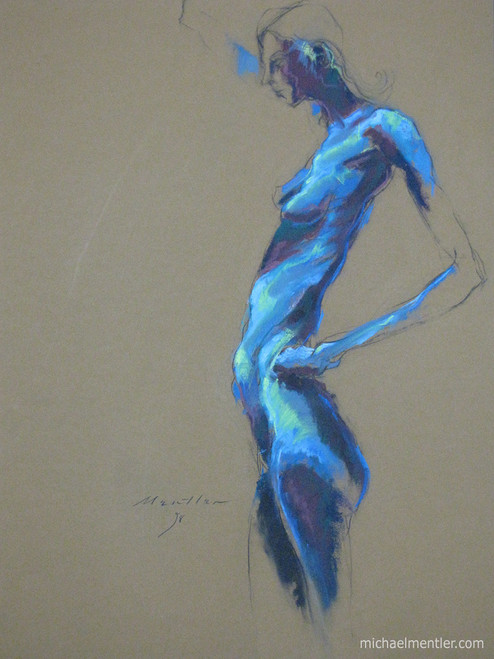 Figura XXI by Michael Mentler 25 in by 18 in, Pastel and Conté on Canson Mi-Teintes