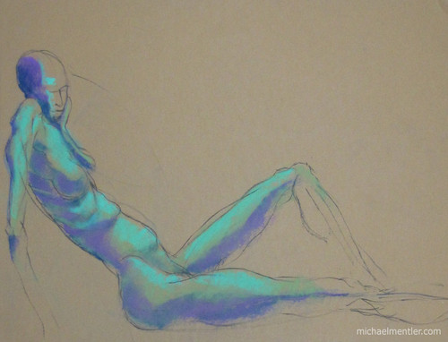 Figura XXIII by Michael Mentler 25 in by 18 in, Pastel and Conté on Canson Mi-Teintes