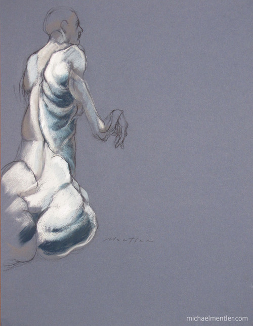 Figura XXV by Michael Mentler 25 in by 18 in, Pastel and Conté on Canson Mi-Teintes