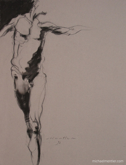 Figura XXVII by Michael Mentler 25 in by 18 in, Pastel and Conté on Canson Mi-Teintes