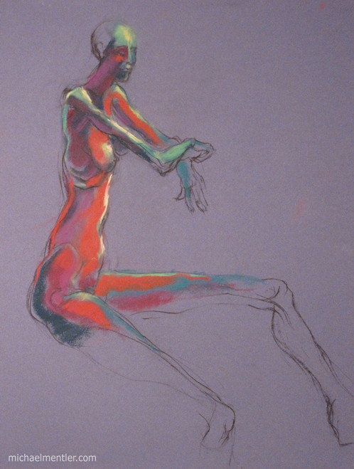 Figura XXIX by Michael Mentler 25 in by 18 in, Pastel and Conté on Canson Mi-Teintes