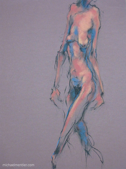 Figura XXXV by Michael Mentler 25 in by 18 in, Pastel and Conté on Canson Mi-Teintes