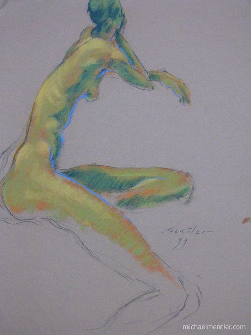 Figura XXXVII by Michael Mentler 25 in by 18 in, Pastel and Conté on Canson Mi-Teintes