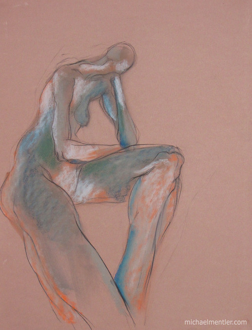 Figura XXXXI by Michael Mentler 25 in by 18 in, Pastel and Conté on Canson Mi-Teintes