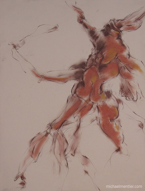 Figuration LV by Michael Mentler 25 in by 18 in, Pastel and Conté on Canson Mi-Teintes