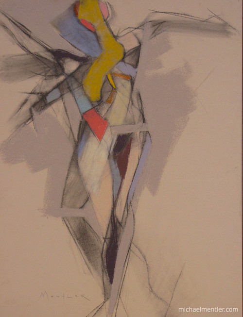 Figura LIII by Michael Mentler 25 in by 18 in, Pastel and Conté on Canson Mi-Teintes