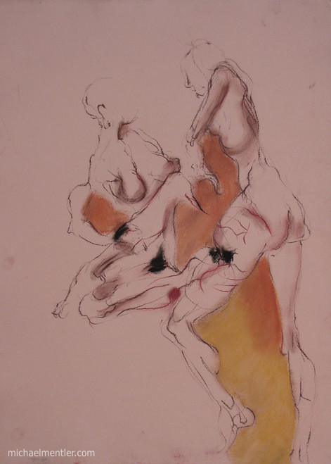 Figuration LI  by Michael Mentler 25 in by 18 in, Pastel and Conté on Canson Mi-Teintes