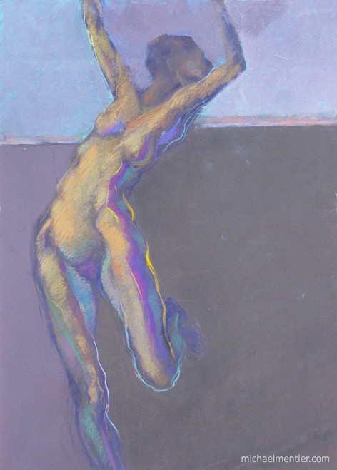 Figura XXXXIX by Michael Mentler 25 in by 18 in, Pastel on Canson Mi-Teintes