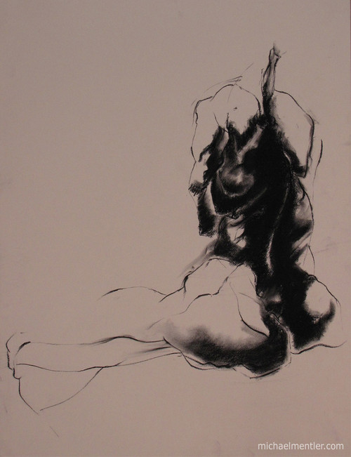 Figura LIX by Michael Mentler 25 in by 18 in, Pastel and Conté on Canson Mi-Teintes
