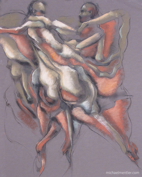 Muses LXI by Michael Mentler 25 in by 18 in, Pastel and Conté on Canson Mi-Teintes