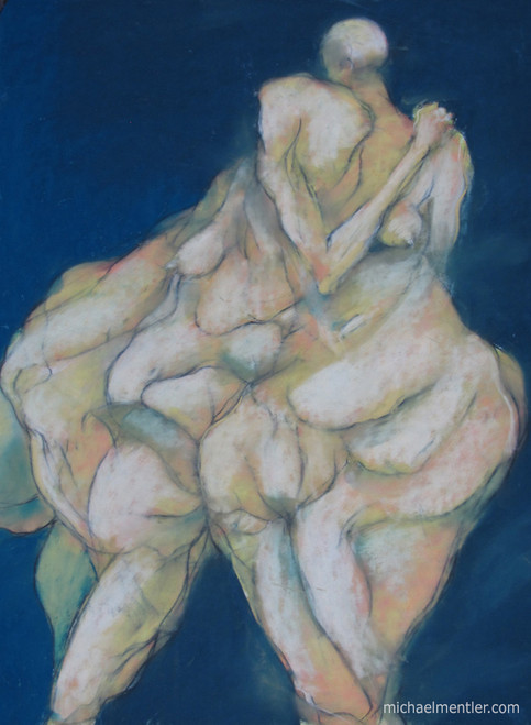 Muses LXVII by Michael Mentler 25 in by 18 in, Pastel and Conté on Canson Mi-Teintes