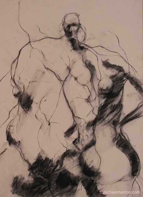 Figura LXXIII by Michael Mentler 25 in by 18 in, Pastel and Conté on Canson Mi-Teintes