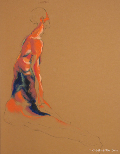 Figura LXXVII by Michael Mentler 25 in by 18 in, Pastel and Conté on Canson Mi-Teintes