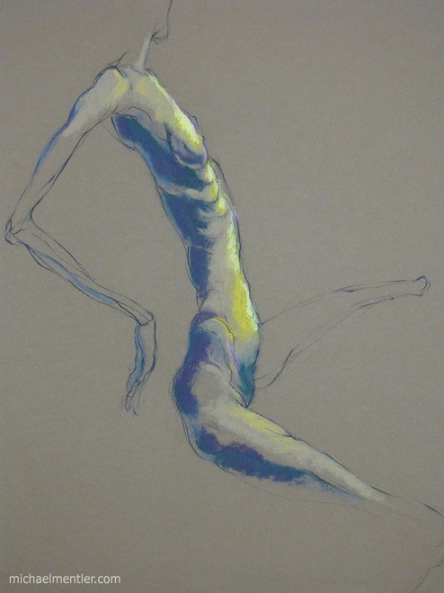 Figura LXVII by Michael Mentler 25 in by 18 in, Pastel and Conté on Canson Mi-Teintes