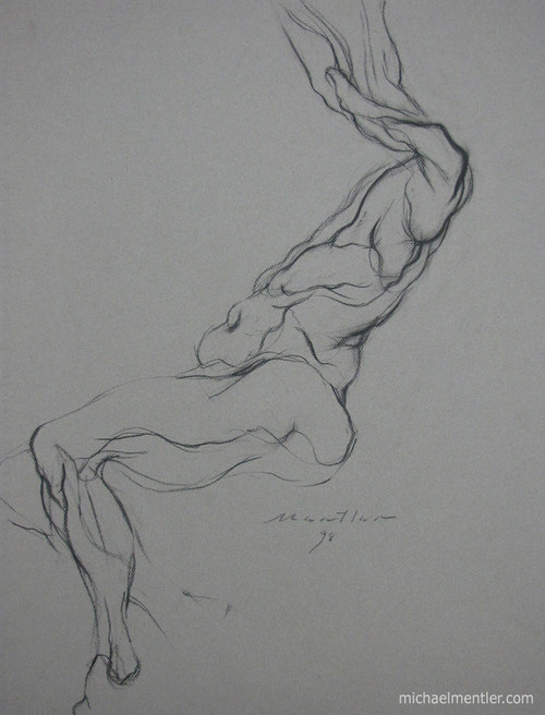 Figura LXXXXI by Michael Mentler 25 in by 18 in, Pastel and Conté on Canson Mi-Teintes