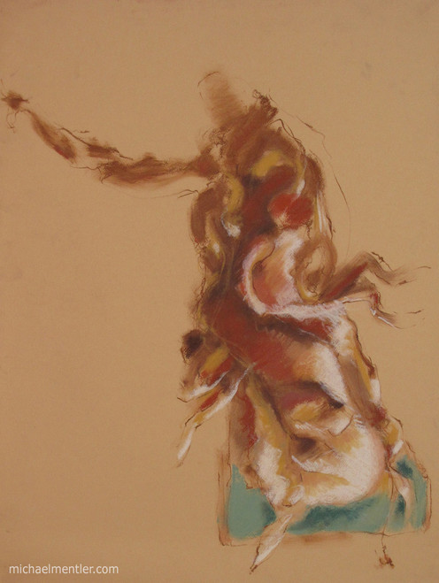 Figuration CI by Michael Mentler 25 in by 18 in, Pastel and Conté on Canson Mi-Teintes