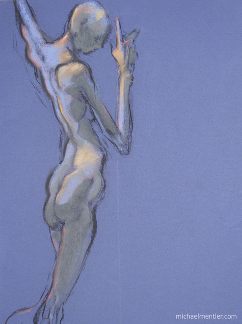 Figura CXIII by Michael Mentler 25 in by 18 in, Pastel and Conté on Canson Mi-Teintes