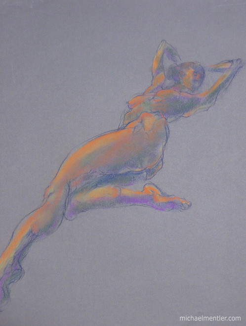Figura CXXV by Michael Mentler 25 in by 18 in, Pastel and Conté on Canson Mi-Teintes